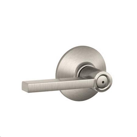Schlage F40VLAT619 Satin Nickel Latitude Style Privacy Lever