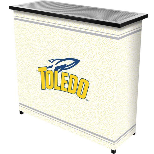 Trademark Poker CLC8000-UTDO University of ToledoT 2 Shelf Portable Bar with Case