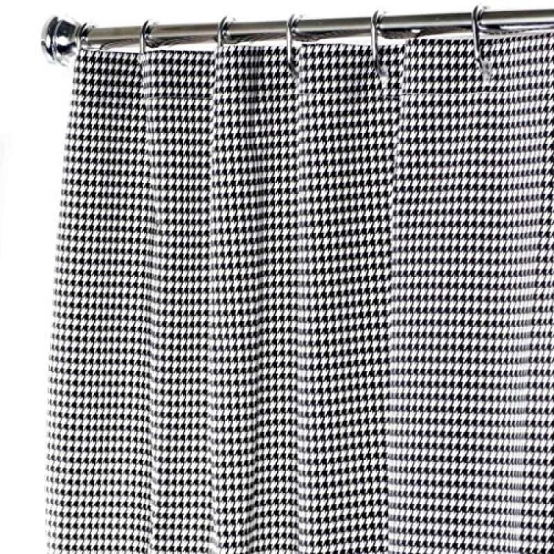 Extra Long Shower Curtain Bathroom Curtains Black and Whi...