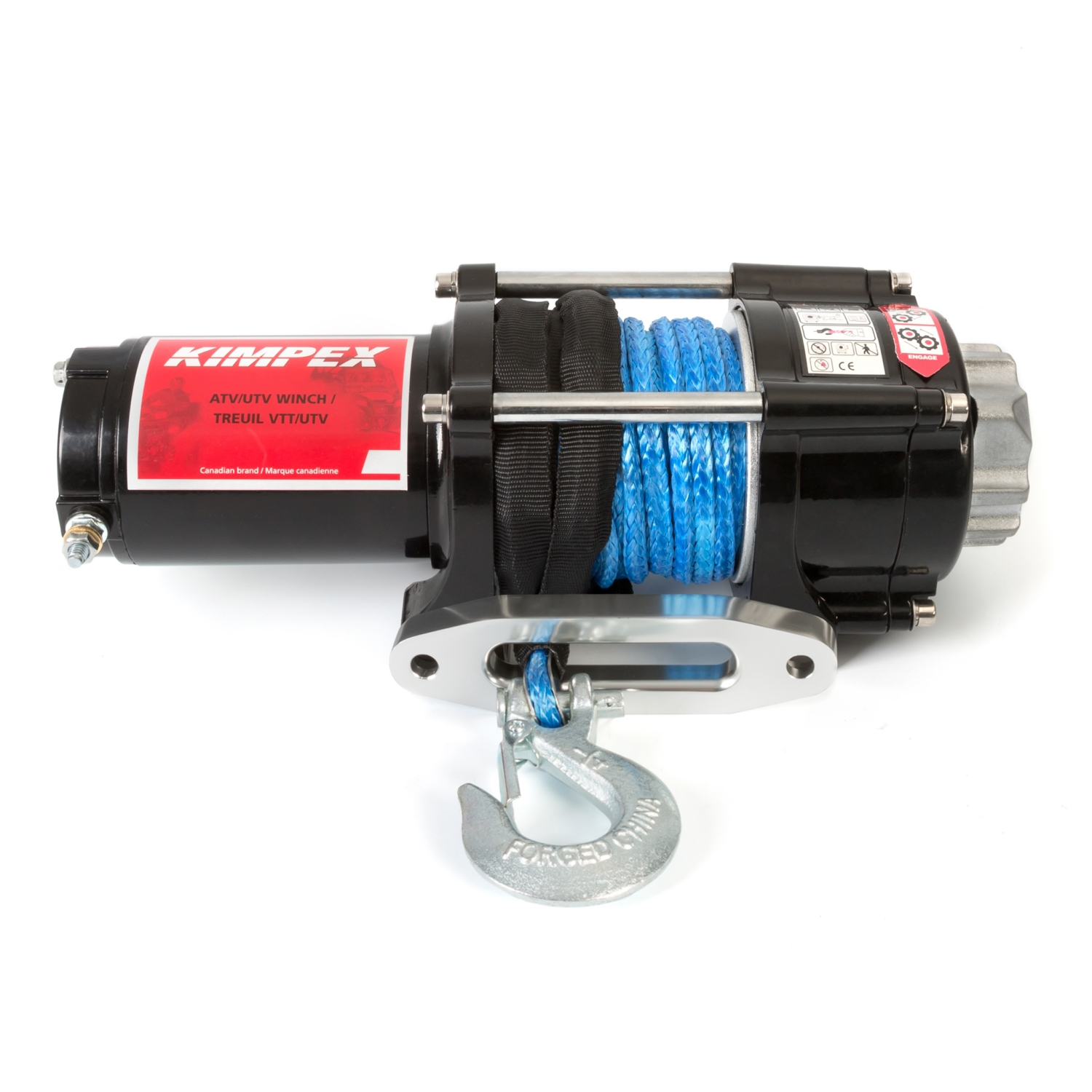 KIMPEX 2500 lbs Winch Kit with Synthetic Rope   #458243