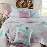 Cowgirl Princess Bed-in-a-Bag Quilted Bedding Size Full