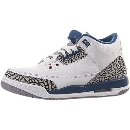 size 40 c183a c3e1e UPC 883419216633. Air Jordan 3 Retro (Gs) 398614-104 (White true blue) 7Y  ...