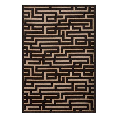 Image of Abacasa 6067 Napa Maze Charcoal/Beige Area Rug