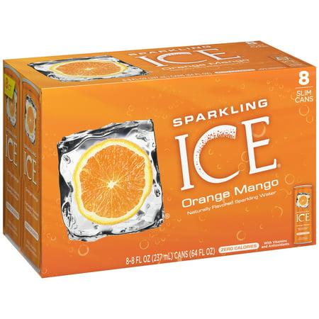 Sparkling Ice® Orange Mango, 8 Fl Oz Can (Carton of 8)