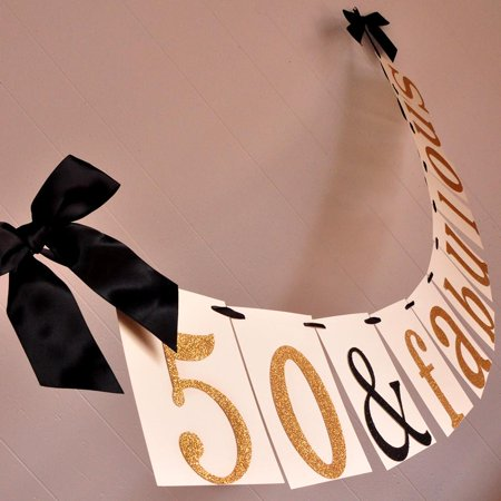 50Th Birthday Decoration  Ships In 1 3 Business Days  50   Fabulous Banner