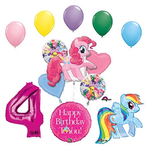 My Little Pony Pinkie Pie and Rainbow Dash 4th Birthday Party Supplies