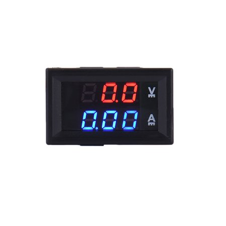 Mini High Quality LED DC Dual LED Digital Current Voltmeter Ammeter DC 100V 10A Panel Amp Volt Current Meter Tester Blue Red Dual LED Display