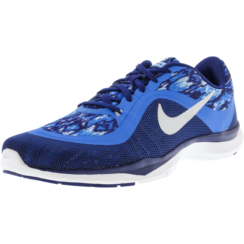 Nike Men's Flex Trainer 6 Print Bluecap / Metallic Platinum-Photo Blue-Deep Royal Ankle-High Running Shoe - 8.5M
