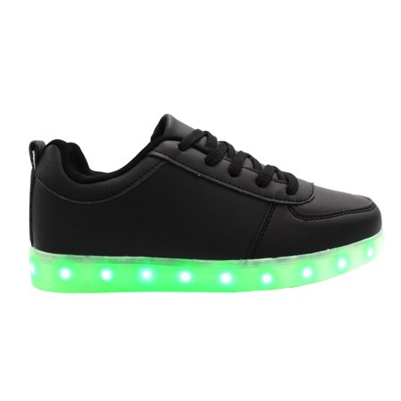 Galaxy LED Shoes Light Up USB Charging Low Top Women's Sneakers (Black)](Shoe Led)
