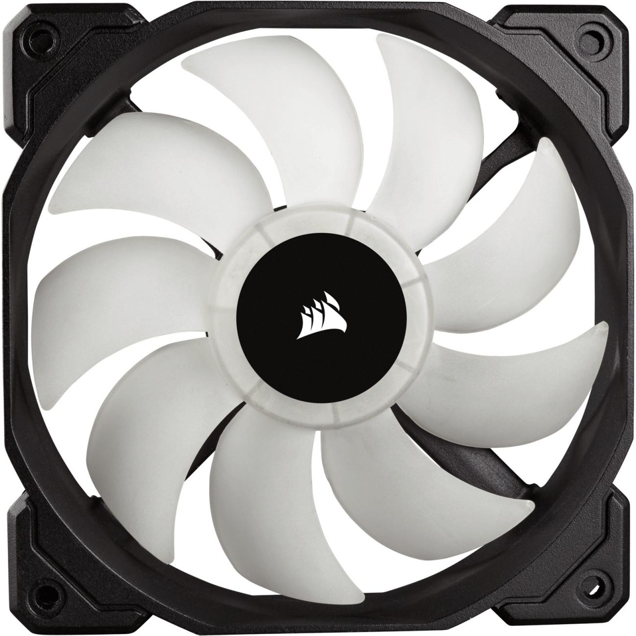 Corsair CO-9050065-WW HD Series, HD120 RGB LED, 120mm High Performance RGB LED PWM single fan, no controller - CO-9050065-WW