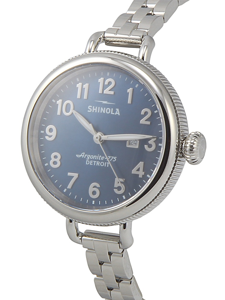 Shinola Blue Dial Stainless Steel Womens Watch 20001099