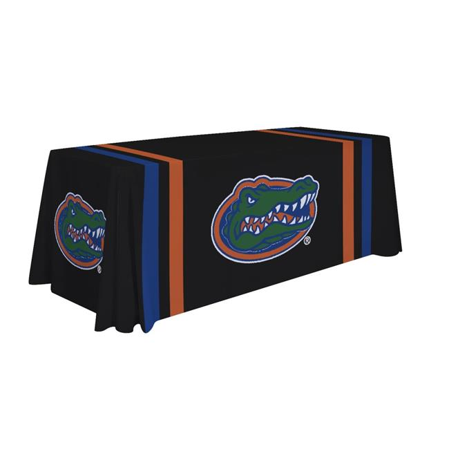 Victory Corps 810026FLA-002 6 ft. NCAA Florida Gators Dye Sublimated Table Throw - No.002