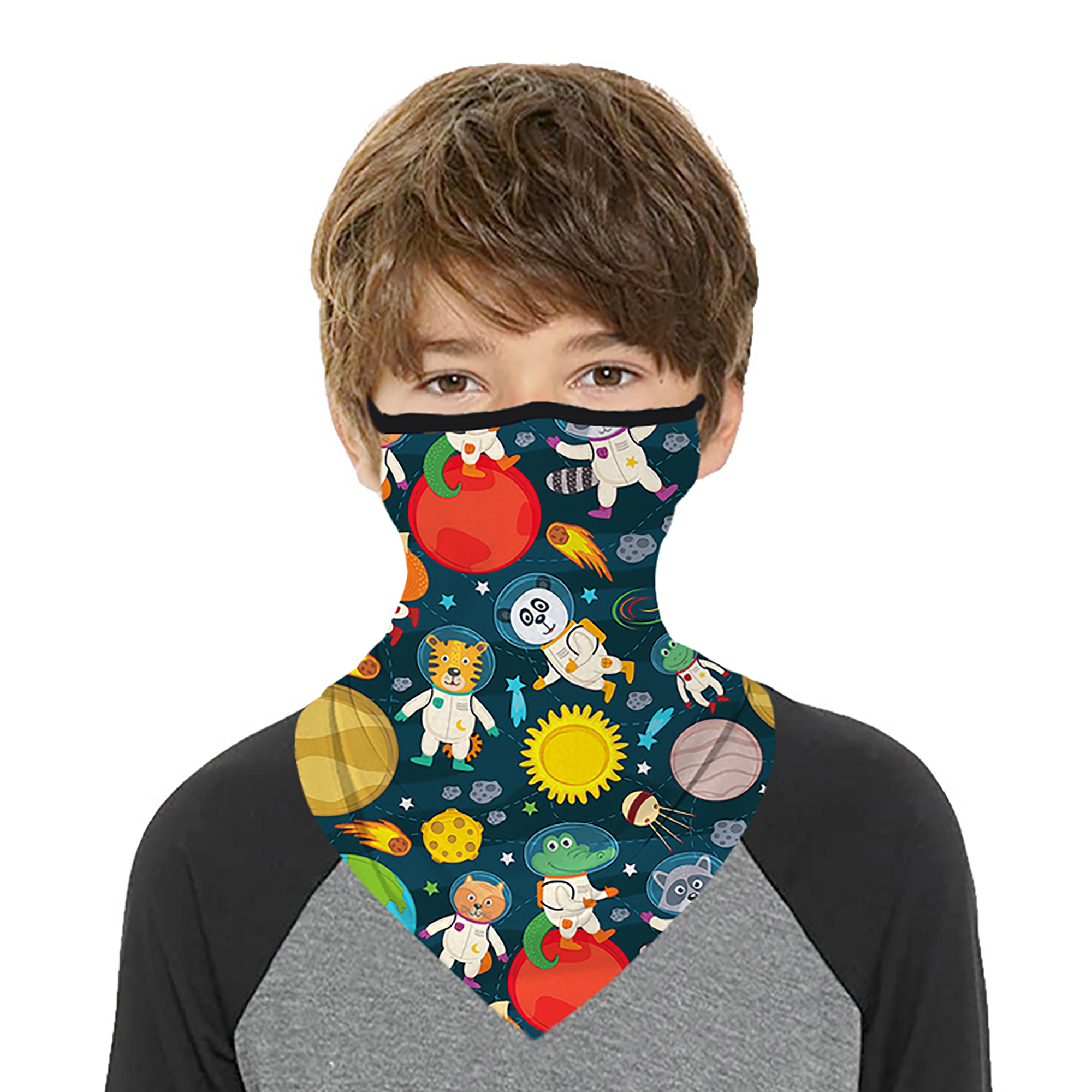 Details about  /Motorcycle Balaclava Neck Gaiter Bandana Tube  Loops Ear Face Cover Scarf Summer