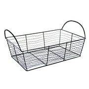 Stella Rectangular Utility Wire Basket - Black 11in