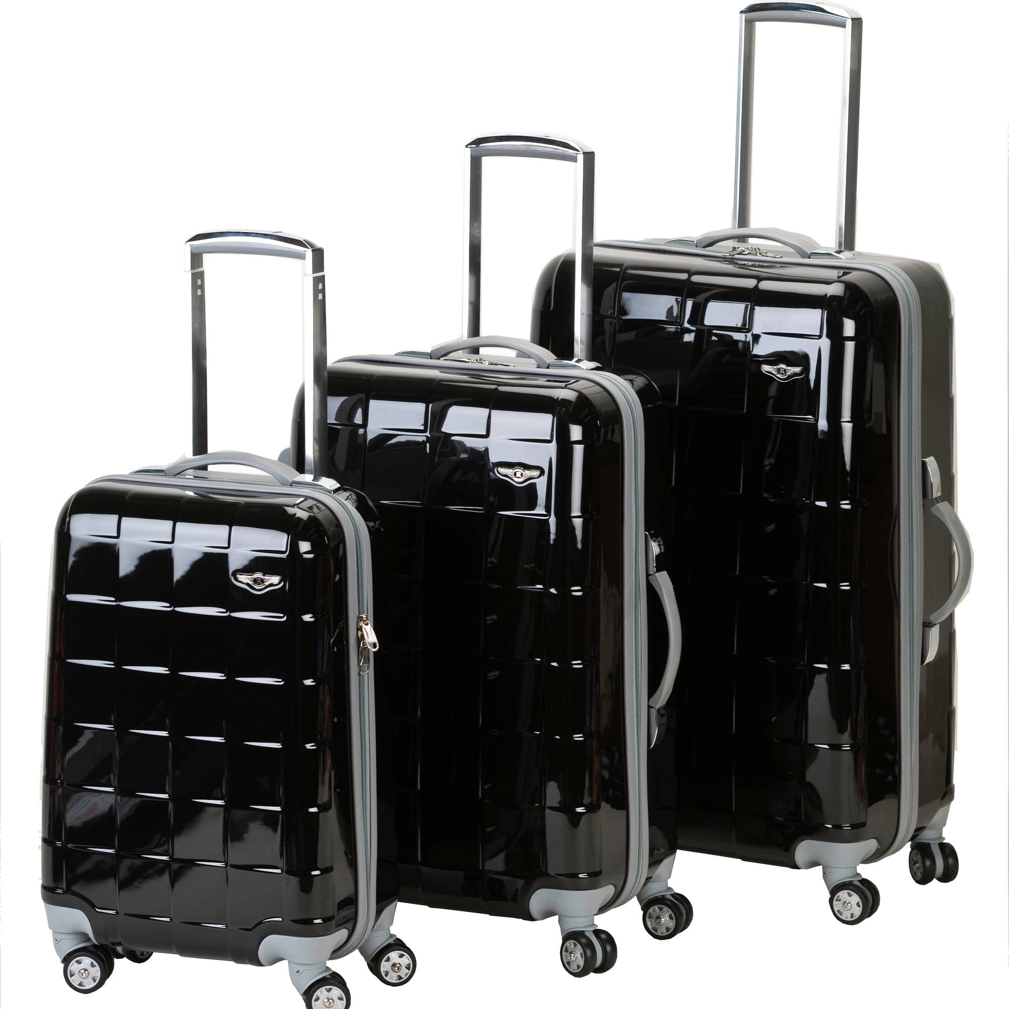 Rockland Luggage Celebrity 3 Piece Spinner Polycarbonate ...