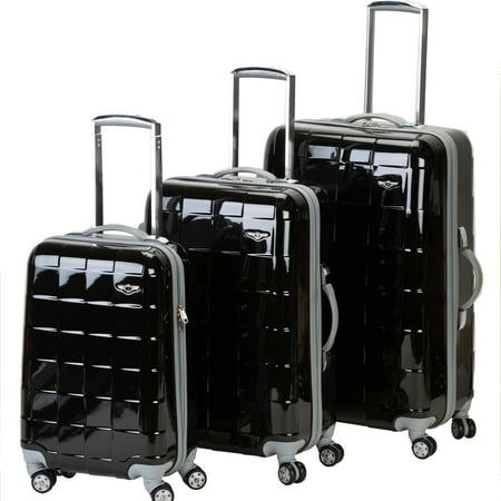 Rockland Luggage Celebrity 3 Piece Spinner Polycarbonate Luggage ...