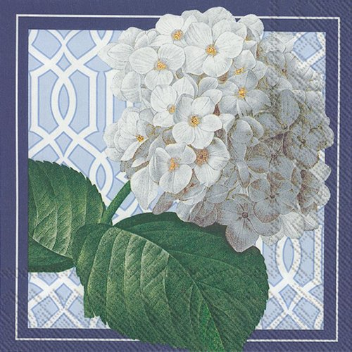 4 PACKS PAPER LUNCH NAPKINS TRELLIS HYDRANGEA 4 Packs Paper Lunch Napkins Trellis Hydrangea by Generic
