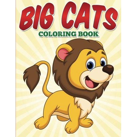 Big Cats Coloring Book For Kids