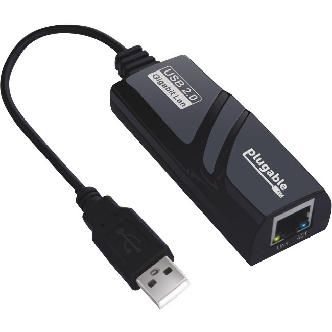 Plugable Network Adapter - USB 2.0 to 10/100/1000 Gigabit Ethernet