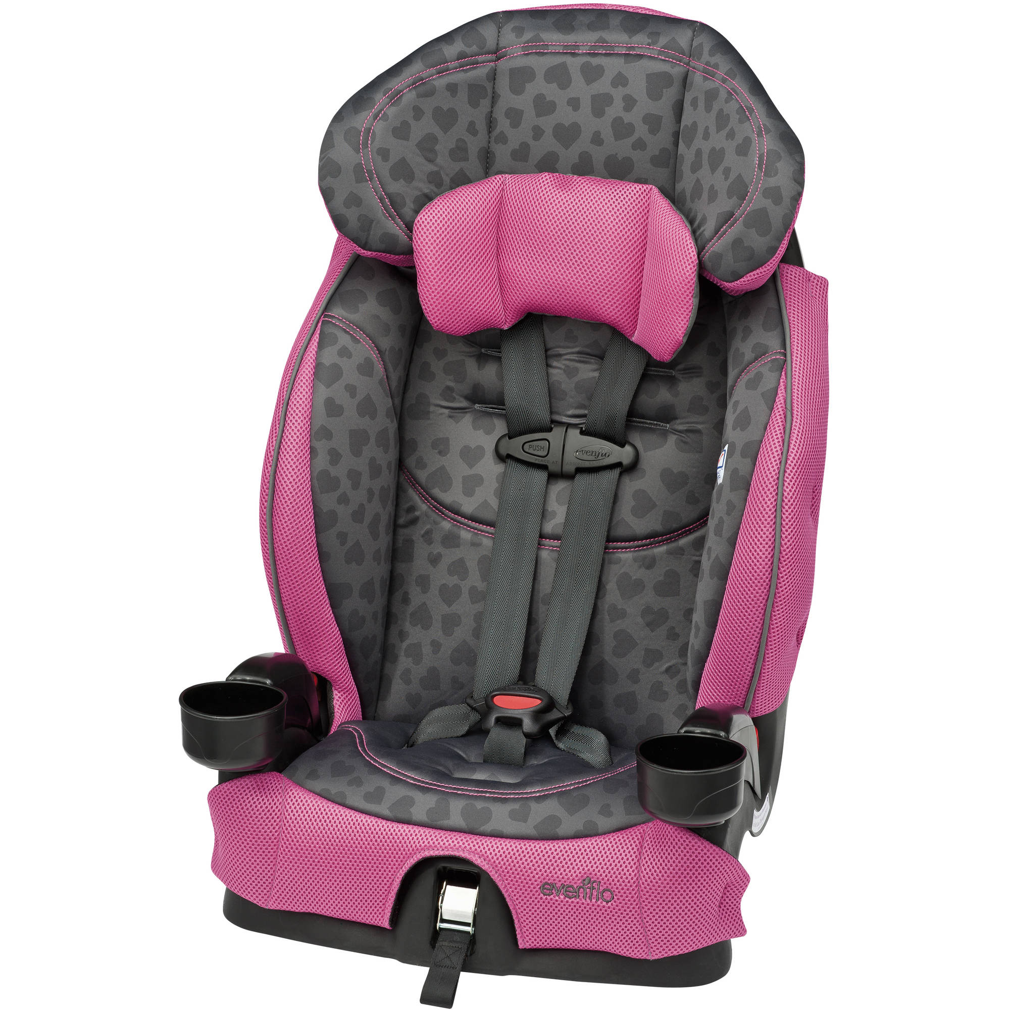 Evenflo Chase Harnessed Booster Seat, Tonal Hearts