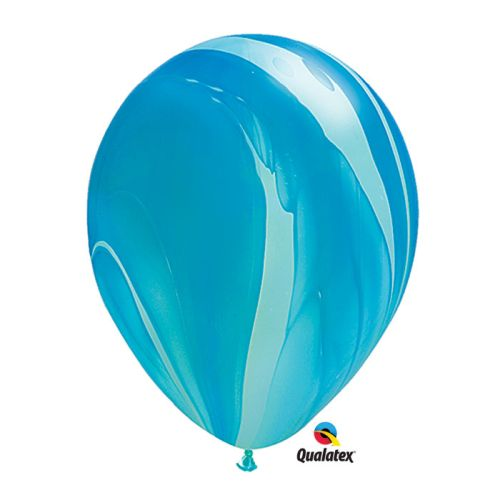 "Burton & Burton Gen 11"" Blue Rainbow Balloons, Pack Of 25"