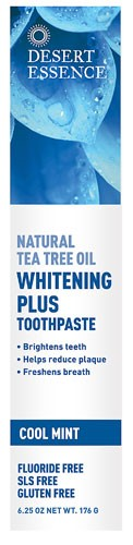 Desert Essence Natural Tea Tree Oil Whitening Plus FluorideFree