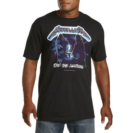 5d0015894be3 Big   Tall Metallica Ride Lightning Graphic Tee - Walmart.com