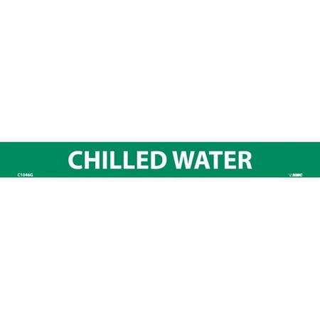 NMC C1046G PIPEMARKER, PS VINYL, CHILLED WATER, 1X9  1/2