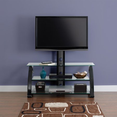 Spar Glass and Metal TV Stand for TVs up to 65""