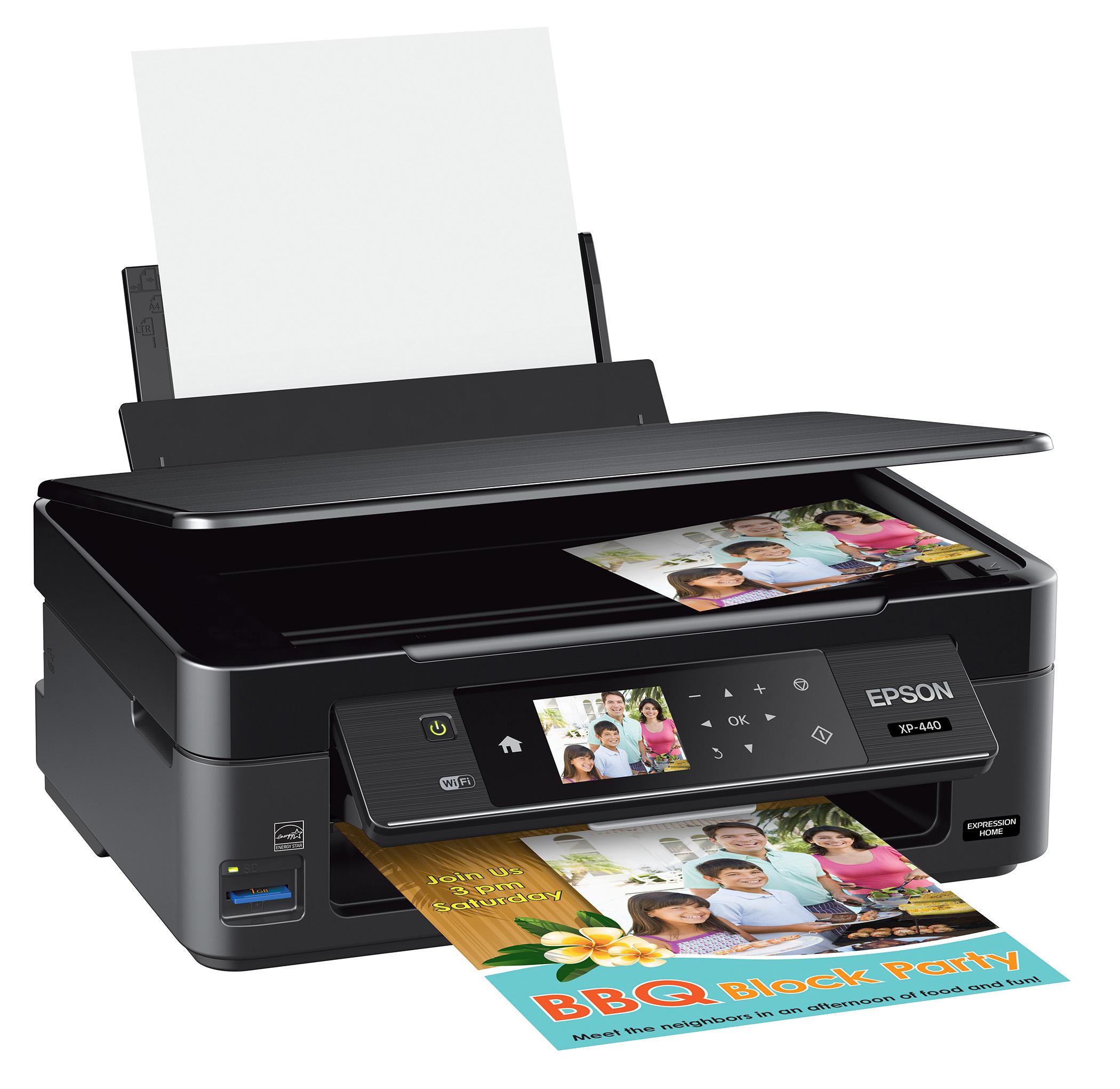 Epson Expression Home XP-440 Inkjet Multifunction Printer - Color - Plain Paper Print - Desktop