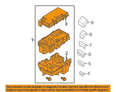 Jeep CHRYSLER OEM 16-17 Cherokee 3.2L-V6 Fuse Relay-Distribution Box 68264530AD by Mopar