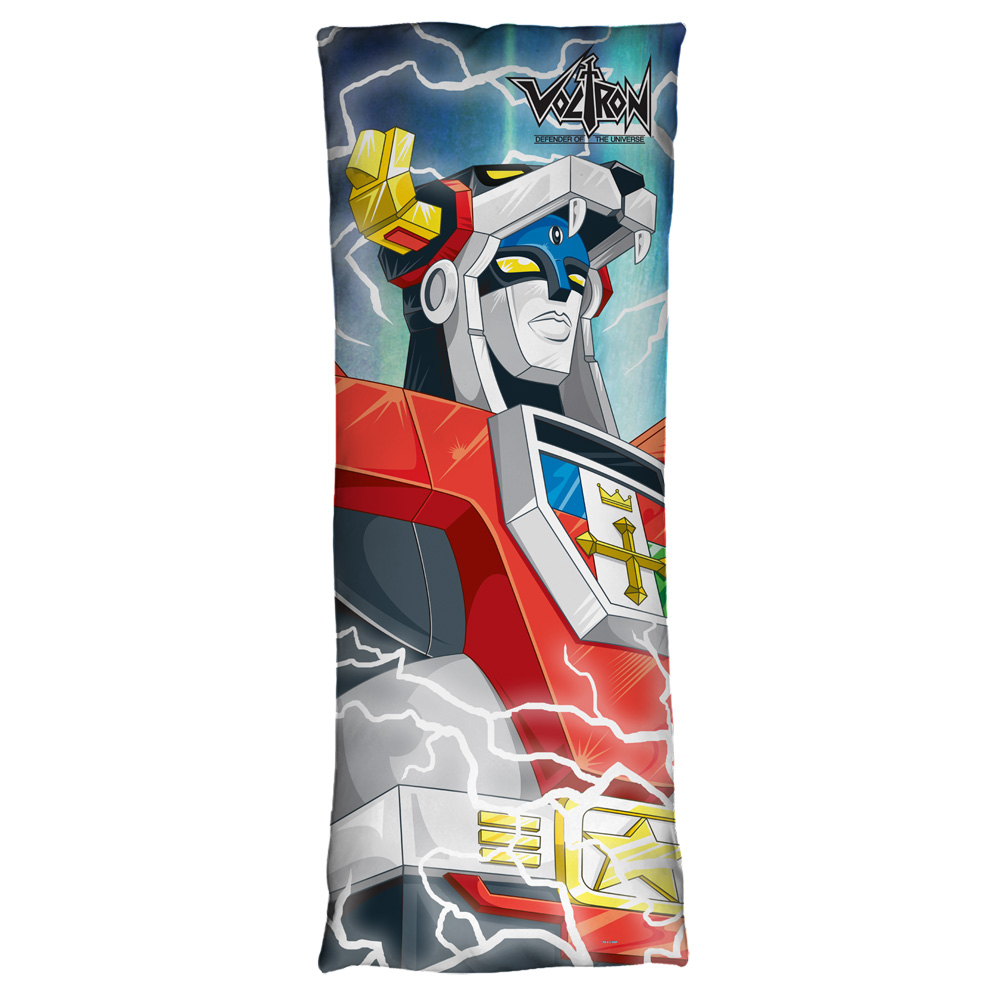 Voltron Lightning Combine Microfiber Body Pillow White 18X54