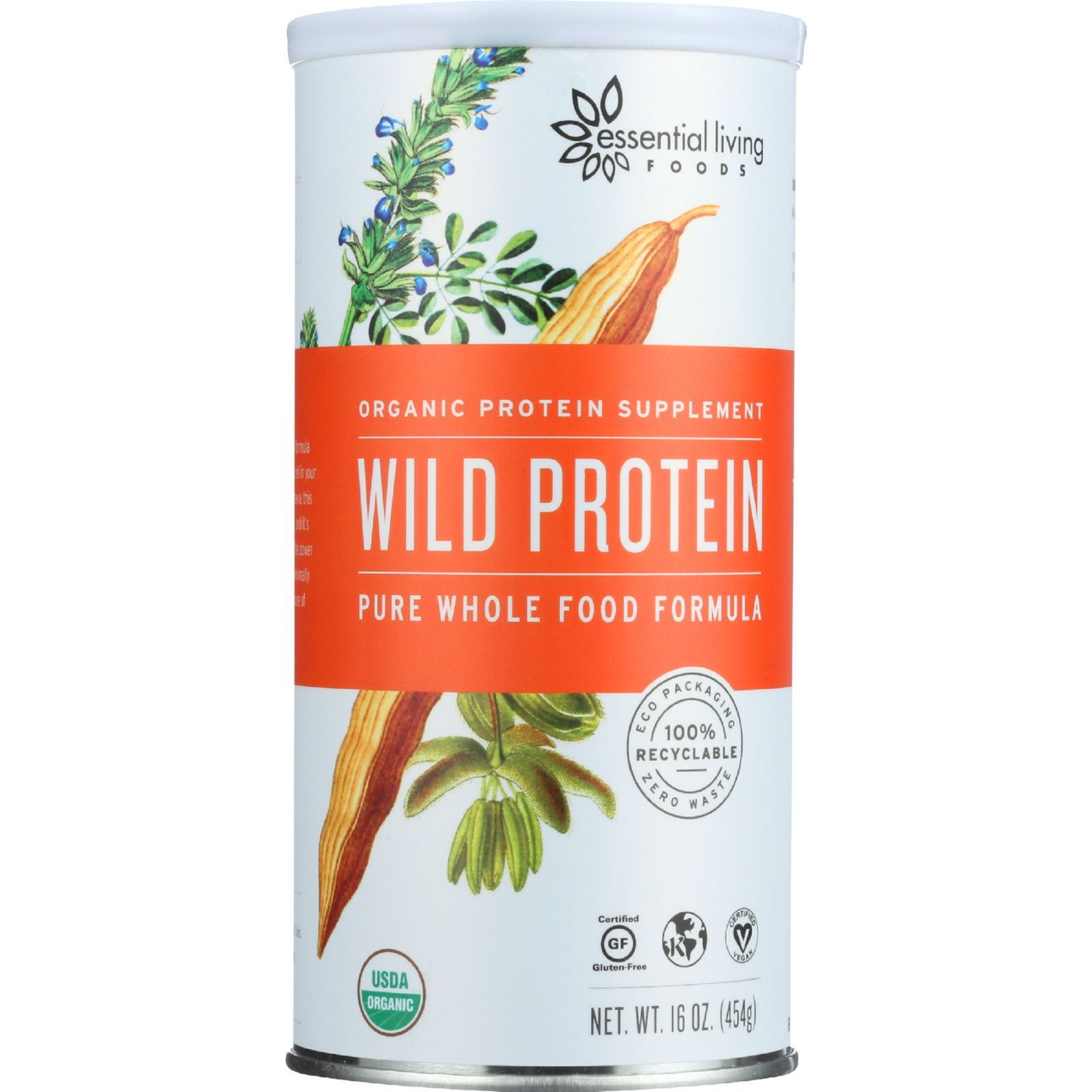 Essential Living Foods Smoothie Mix - Organic - Wild Protein - Creamy Coconut and Greens - 16 oz - 1