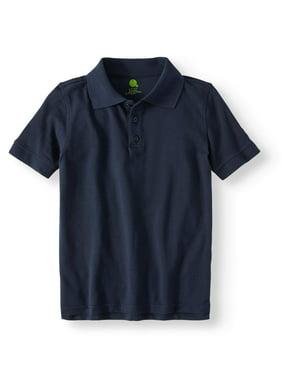 Real School Boys School Uniform Short Sleeve Pique Polo Shirt (Little Boys & Big Boys)