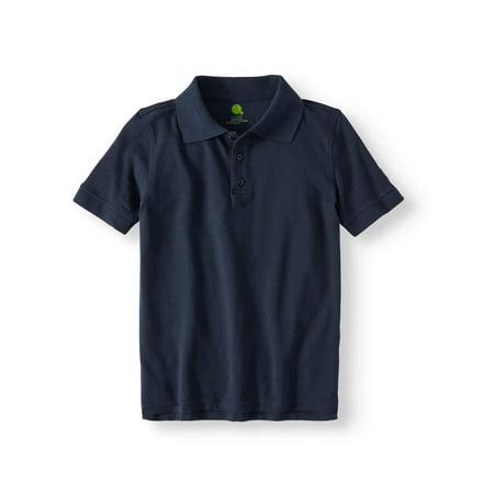 (Boys Short Sleeve Pique Polo Shirt School Uniform Approved)