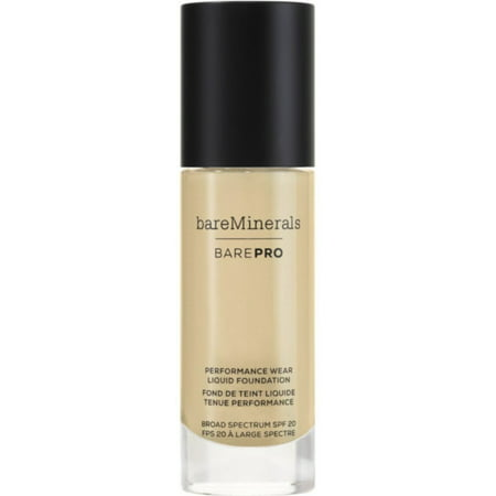 Bareminerals BarePRO Performance Wear Liquid Foundation SPF 20, 12 Warm Natural, 1 Oz