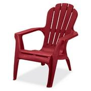 US Leisure Resin Adirondack Plastic Patio Furniture Chair, Red