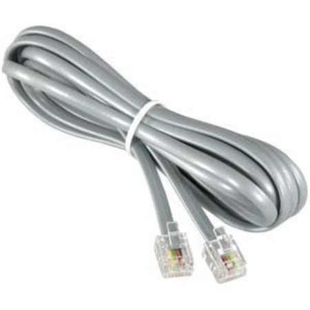 installerparts (10 pack rj12 modular telephone cord extension- straight  wiring, silver (25ft) - walmart com