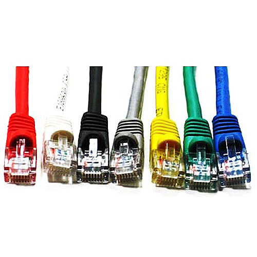Link Depot 5' Ethernet Enhanced CAT6 Networking Cable, Assorted Colors