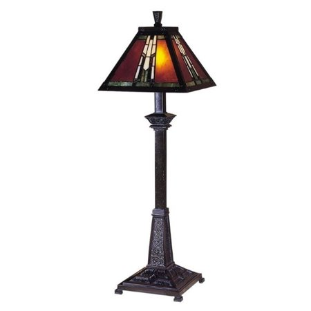 Dale Tiffany Amber Monarch Buffet Table Lamp ()