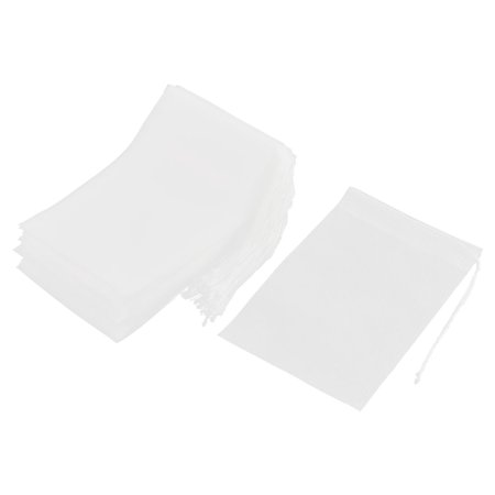 Non-woven Fabric Empty Herbal Powder Tea Filter Bag White 15cm x 10cm 50