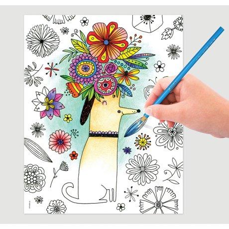 Crayola Hallmark Artist Designs Coloring Book 8X10