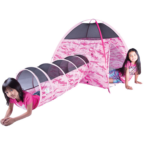Camo Tent and Tunnel Combination, Pink