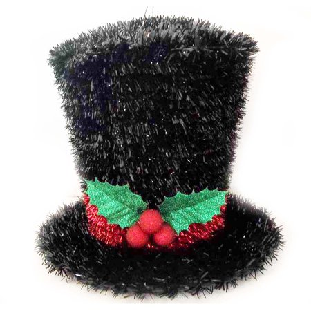 holiday time black top hat christmas decoration - Christmas Top Hat