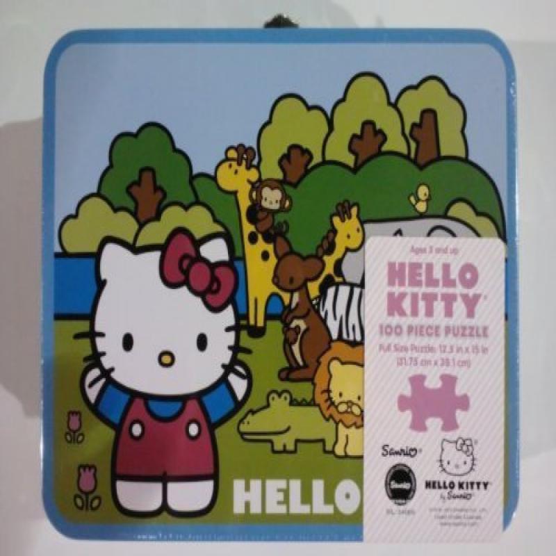 Pressman Hello Kitty: Poodle & Hat Box 100 piece puzzle i...