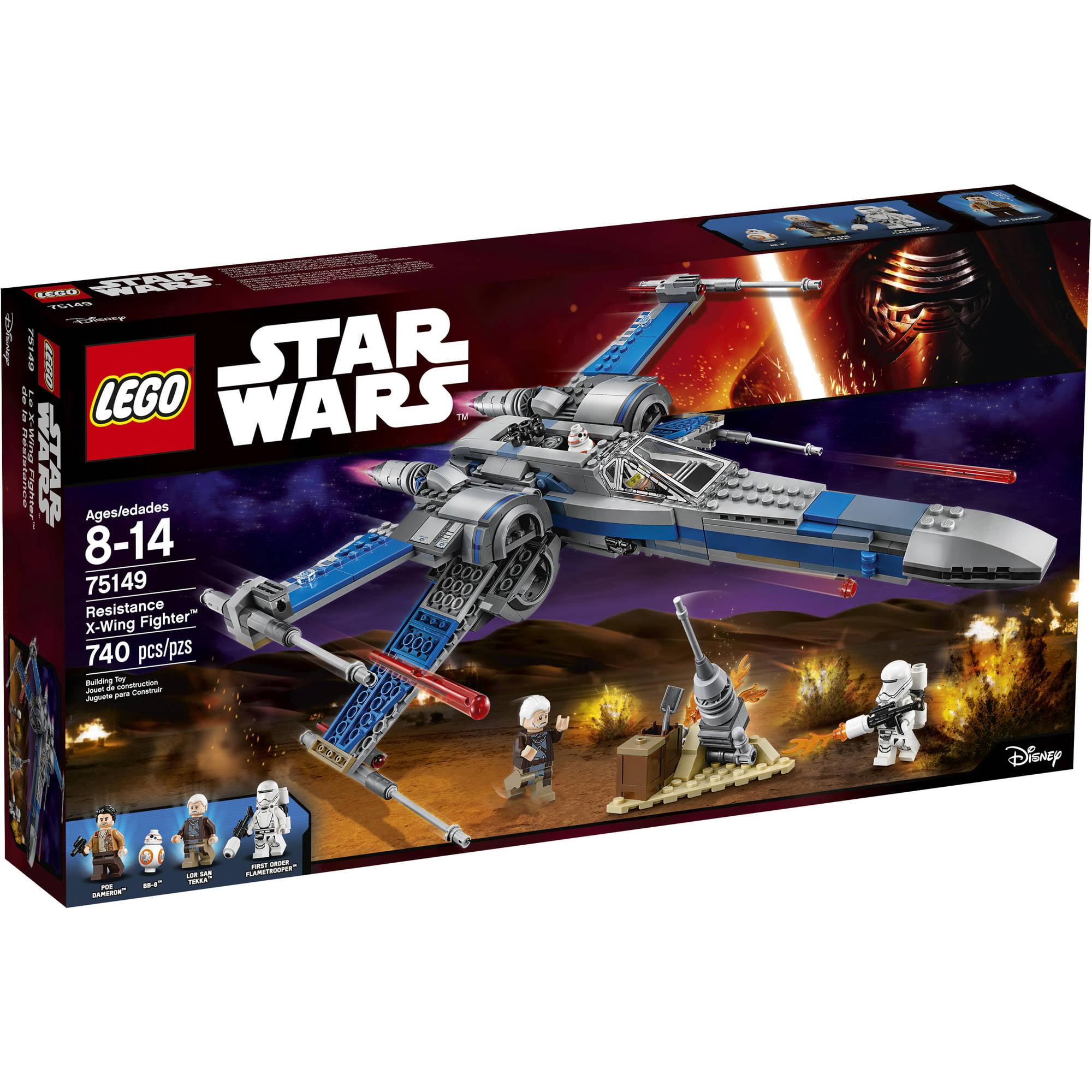 lego star wars resistance x-wing fighter 75149 - walmart