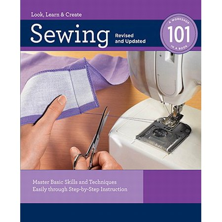 Sewing 101: Master Basic Skills and Techniques Easily through Step-by-Step Instruction - eBook Sewing 101 is a modern-day primer on the basic skills and techniques of sewing. This book is geared toward the absolute novice and assumes you know little or nothing about the craft. Filled with lots of step-by-step photos, useful sewing tip sidebars, and a painstakingly detailed glossary, Sewing 101 teaches you how to sew successfully. You will learn terminology used regularly in sewing, as well as all the basic skills that are the building blocks of the art. From threading the machine to sewing a straight stitch, to more complicated procedures such as installing zippers and following patterns, everything is covered. Chapters include such topics as: the sewing machine and its accessories, sewing supplies and how to use them, how to shop for, prepare, measure and cut fabric, and more. Each new technique is taught via the creation of an actual project, such as a pillow, window treatment, t-shirt, or baby blanket, thereby allowing you to learn a new skill and create an item to wear, display or use in your home. Dust off that machine and begin sewing for fun and function!'