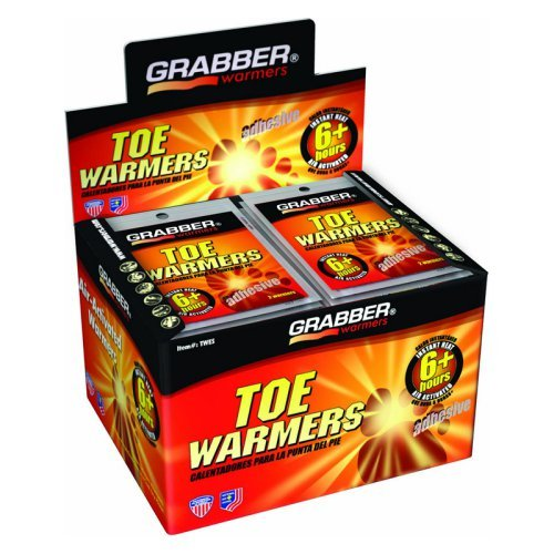 Grabber Outdoors 6 Hour Toe Warmers - 1 Box of 40 Pair