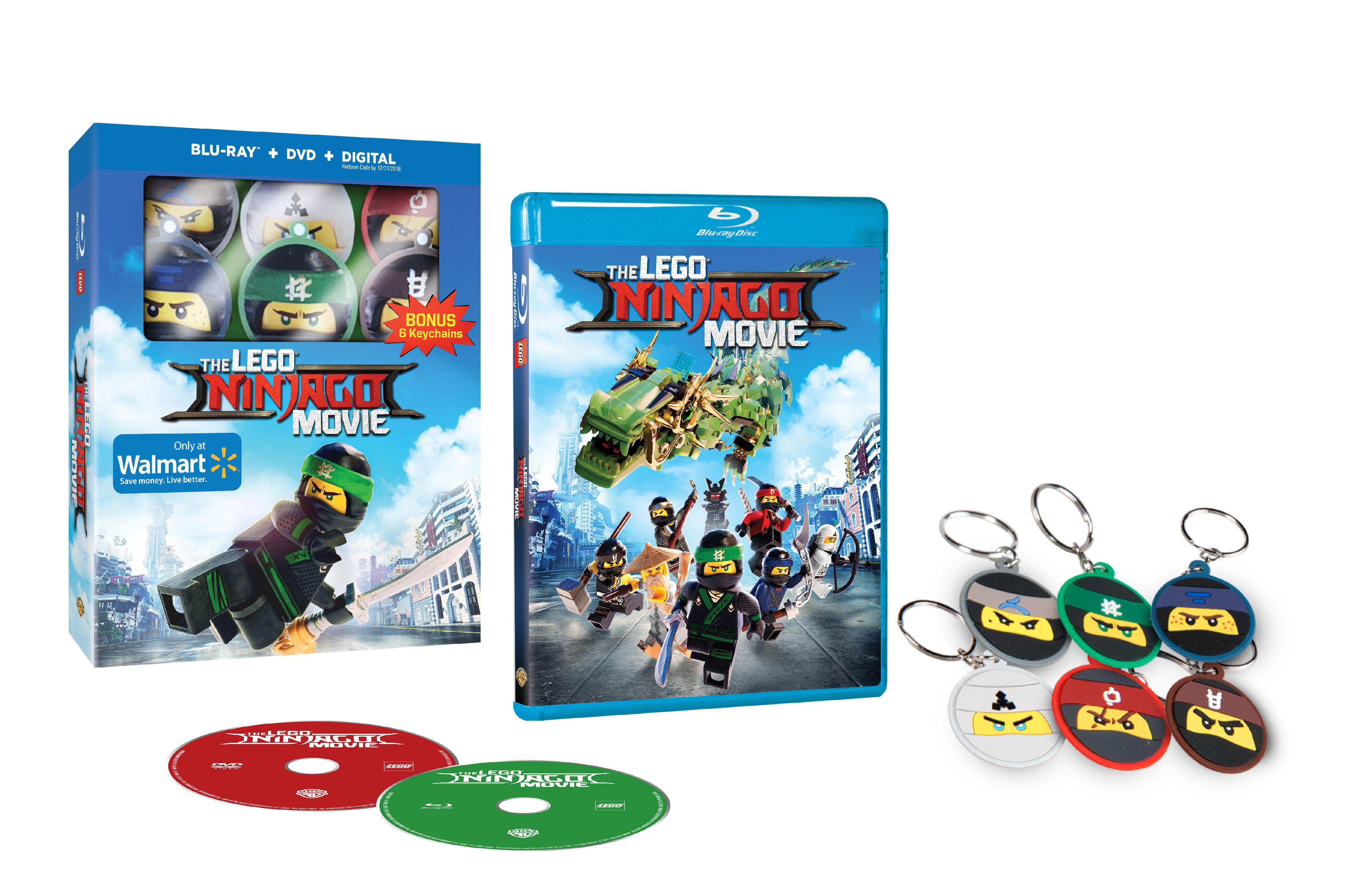 The Lego Ninjago Movie 2017 Walmart Exclusive Blu Ray Dvd Digital Hd Keychain Walmart Com Walmart Com