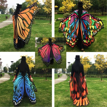 Heepo Fashion Butterfly Wing Beach Towel Cape Scarf for Women Christmas Halloween - Scary Clips For Halloween